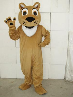 Toot Lions Plush Adult Mascot Costume