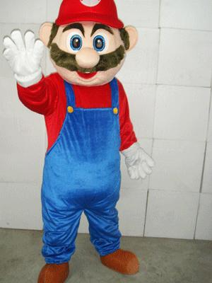 Super Mario Plush Adult Mascot Costume