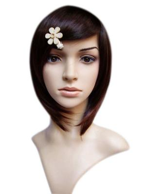 Women's Brown Black Short Straight Fashion Wig