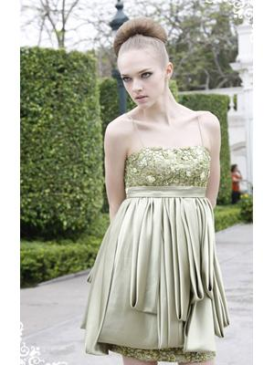 2010 Style Spaghetti Straps Layered Drage Short Prom Dress/Party Dress/Homecoming Dress/Party Gown